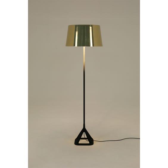 Polished brass standard lamp image