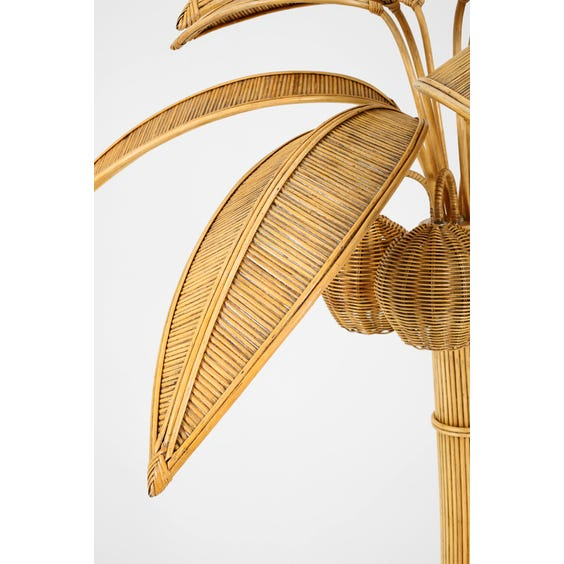 Midcentury rattan palm tree lamp image