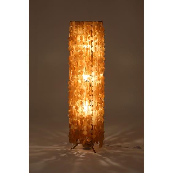Amber pearl disc standard lamp image