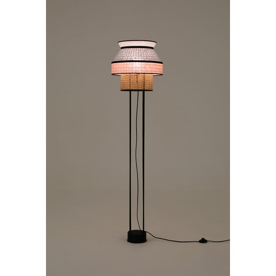 Modern canework standard lamp image