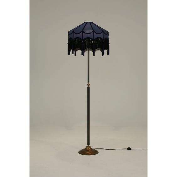 Traditional bronze dusky blue lamp image