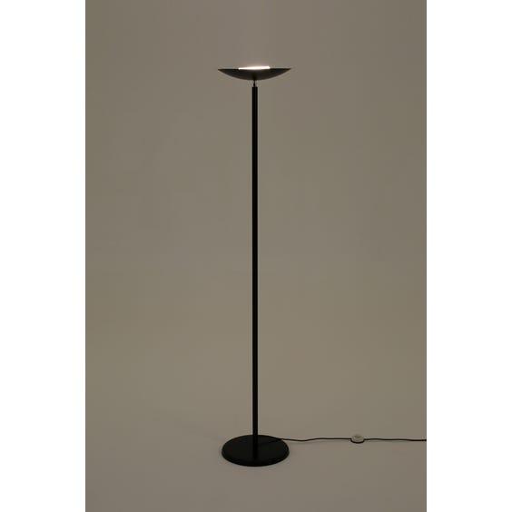 French matt black tall uplighter image