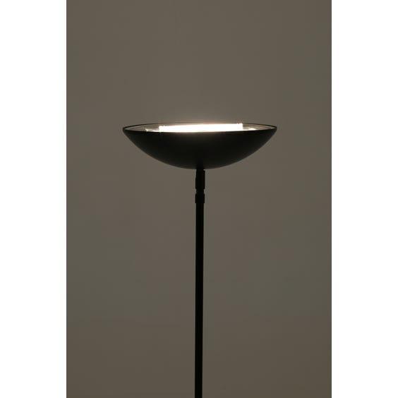 French matt black steel uplighter image