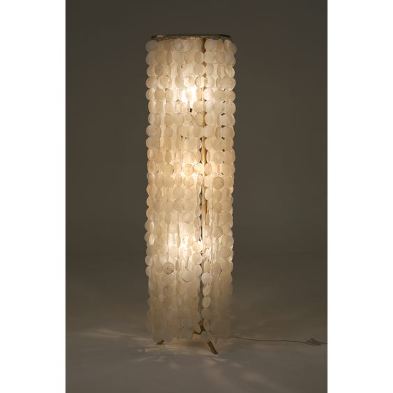 White pearl disc standard lamp image