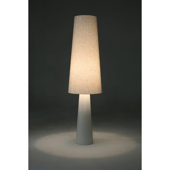 Tall ceramic tapered floor lamp  image