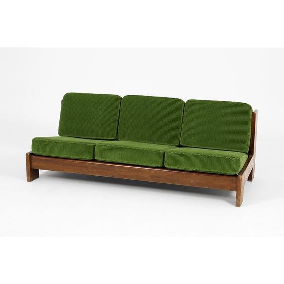 Green jumbo cord sofa image