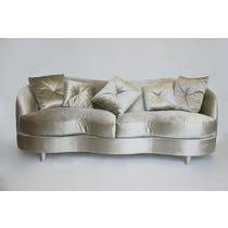 Silver sage sheen velvet sofa