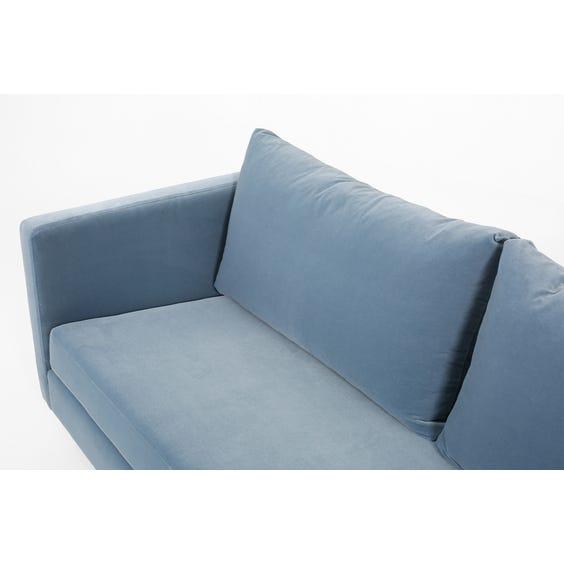 Modern silver blue velvet sofa image