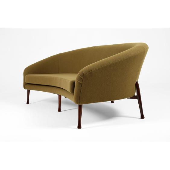 Midcentury moss green sofa image
