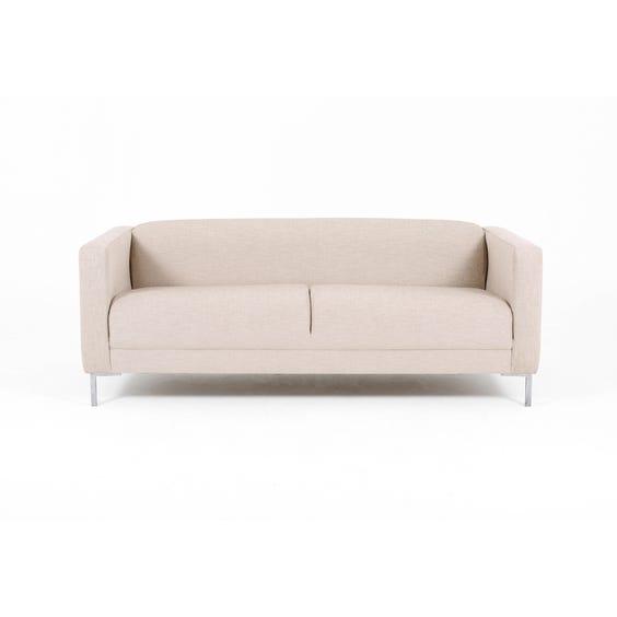 Modern marl textured linen sofa image