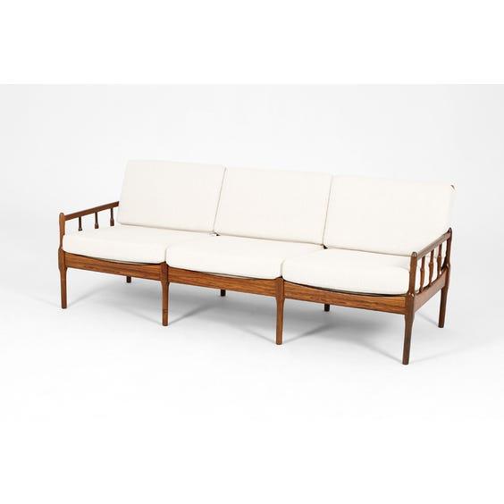 Danish rosewood boucle sofa  image