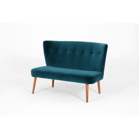 Midcentury peacock blue cocktail sofa image