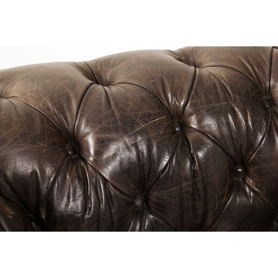 Vintage black chesterfield sofa image