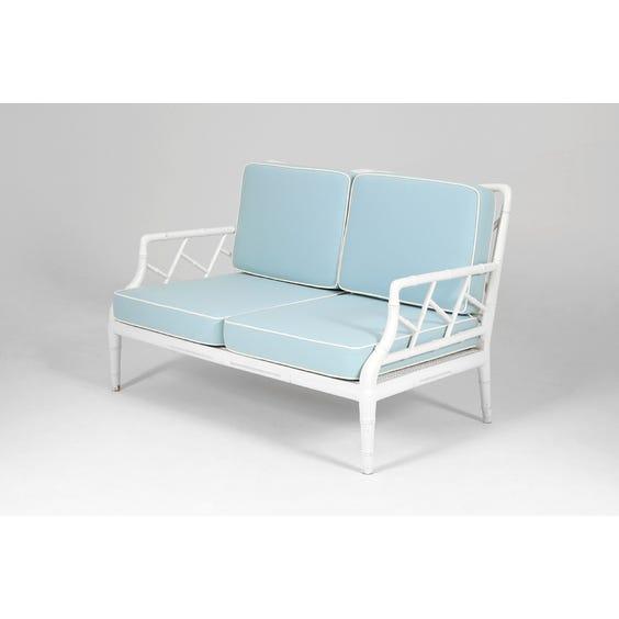 Midcentury chinoiserie bamboo sofa image