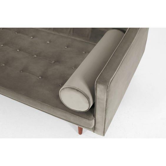 Midcentury grey velvet sofa image