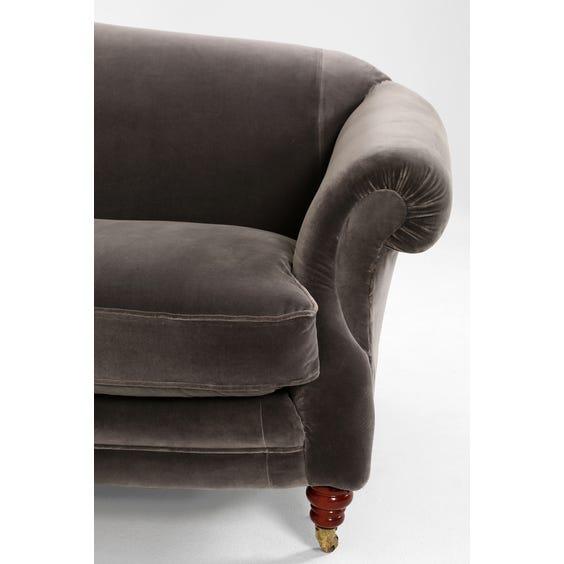 Grey velvet traditional sofa image