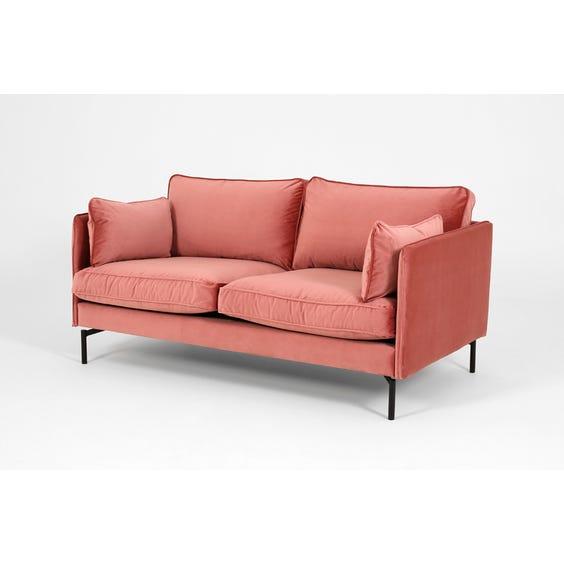 Modern dusky pink velvet sofa image
