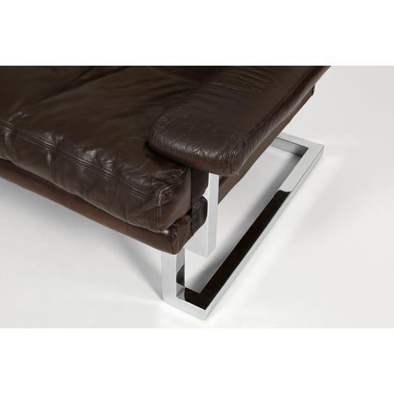 Dark brown leather Pieff sofa image