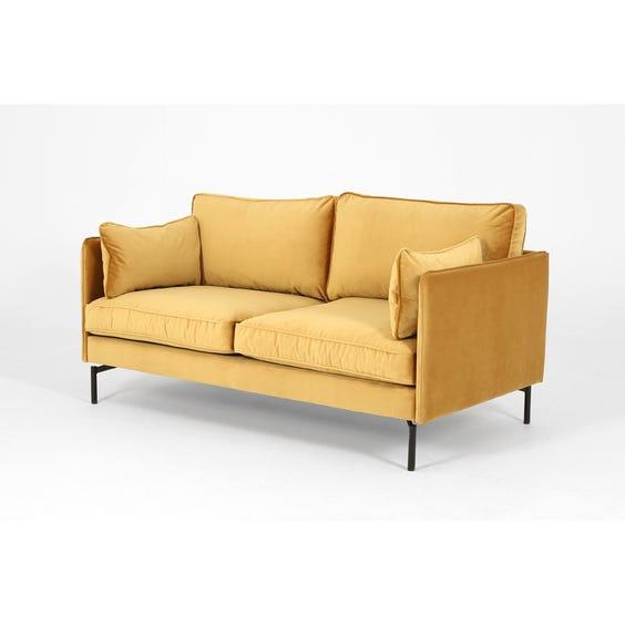 Modern honey gold velvet sofa image