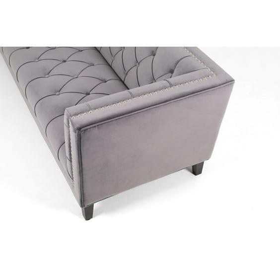 Modern grey three seater sofa image