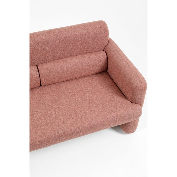 Dusky pink two seater sofa image