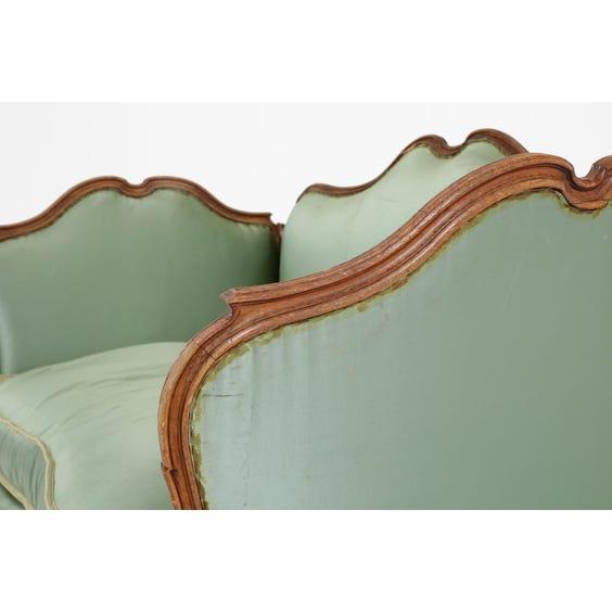 19th Century jade silk  sofa image