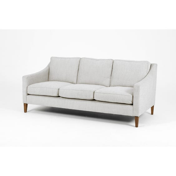Off white and grey woven sofa image