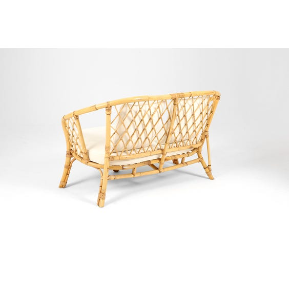 Midcentury rattan two seater sofa  image