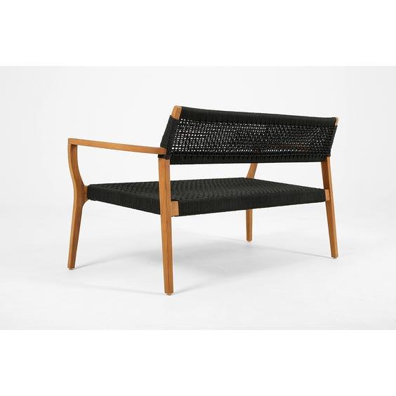 Black woven rope seat sofa image