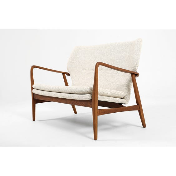 Scandi walnut frame sofa image