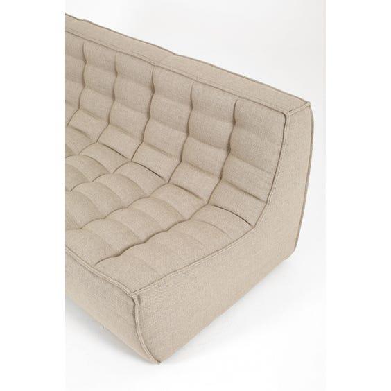Modern woven three seater sofa image