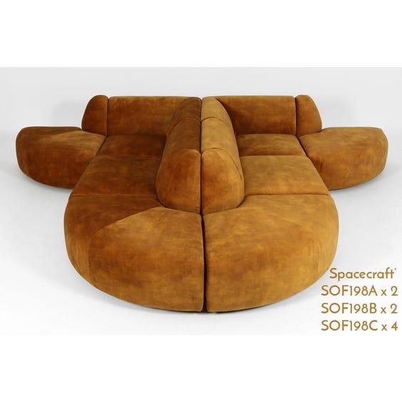 Bronze velvet curved corner modular image