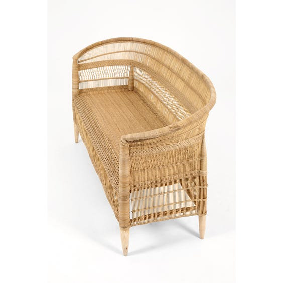 1970s woven rattan two seater sofa  image