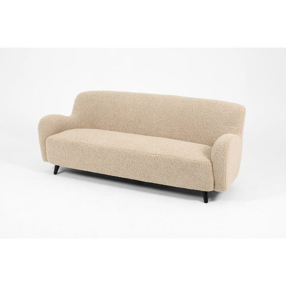 Midcentury shearling three seater sofa  image