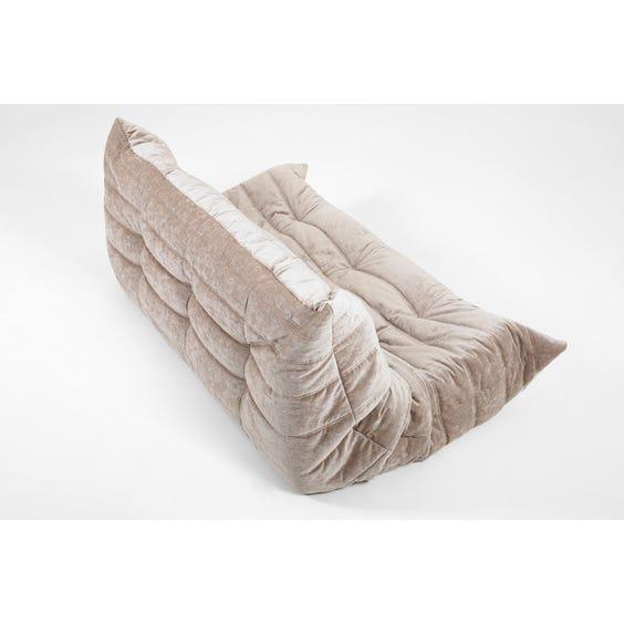 Grey chenille Togo sofa image