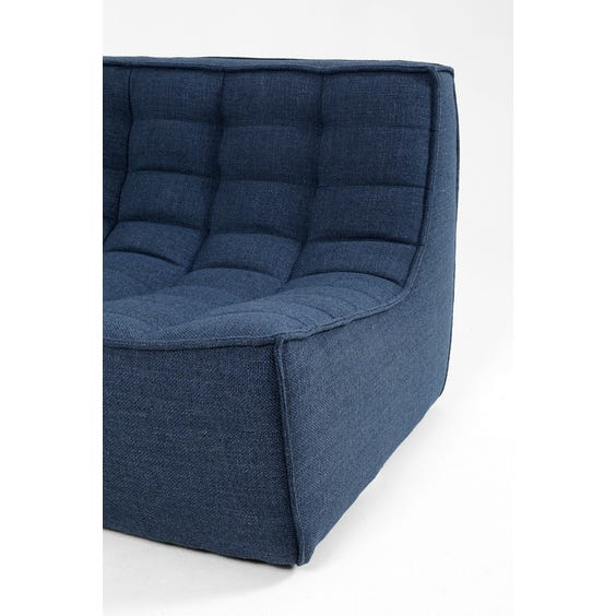 Indigo blue two seater sofa image