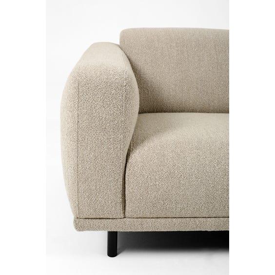Modern oatmeal boucle sofa image