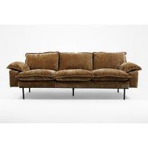 Moss brown jumbo cord sofa
