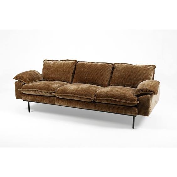 Moss brown jumbo cord sofa image
