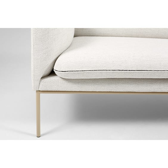 White boucle two seater sofa image