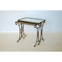 Nest of decorative metal tables