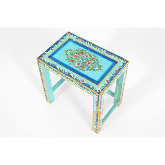 Large blue Moroccan side table image