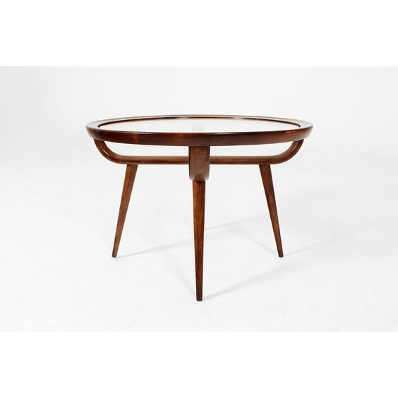 Italian wood circular side table image