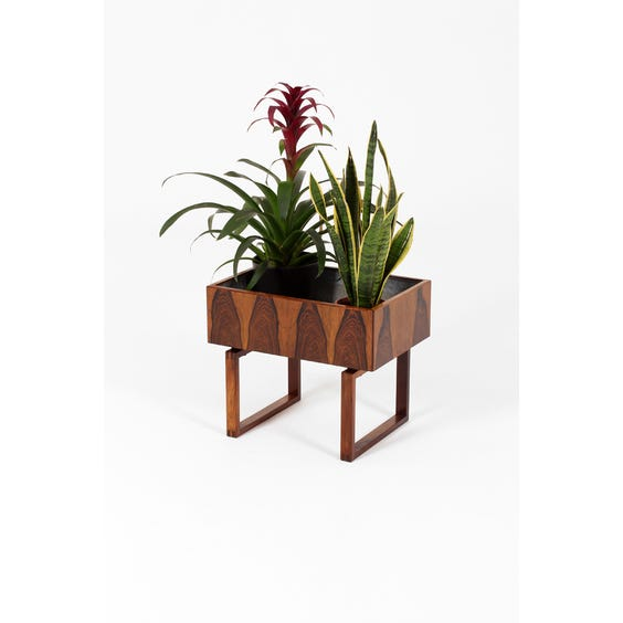 Midcentury rosewood plant stand image
