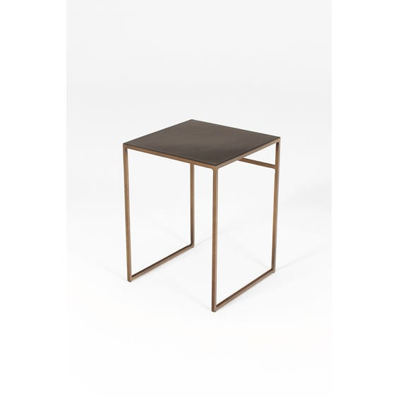 Small black gloss side table image