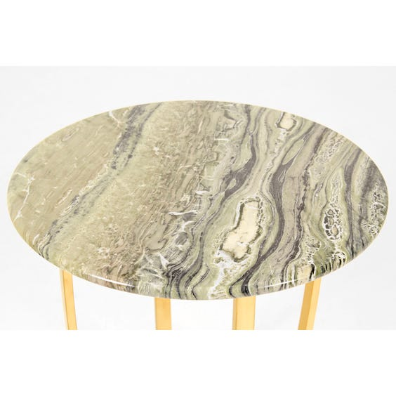 Green marble top side table image