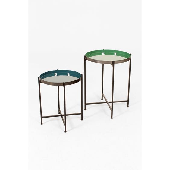 Cool enamel top side tables image