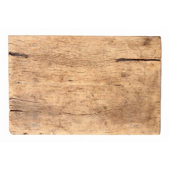 Rustic bleached slab display table image
