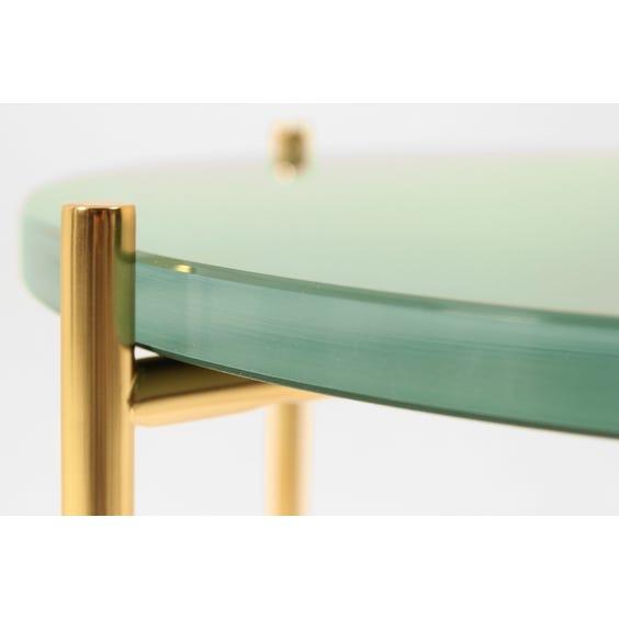 Danish pastel emerald glass side table image