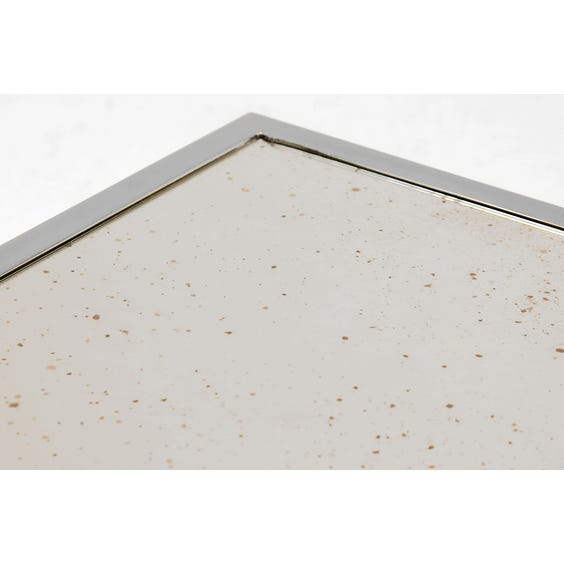 1970s silver angular side table image